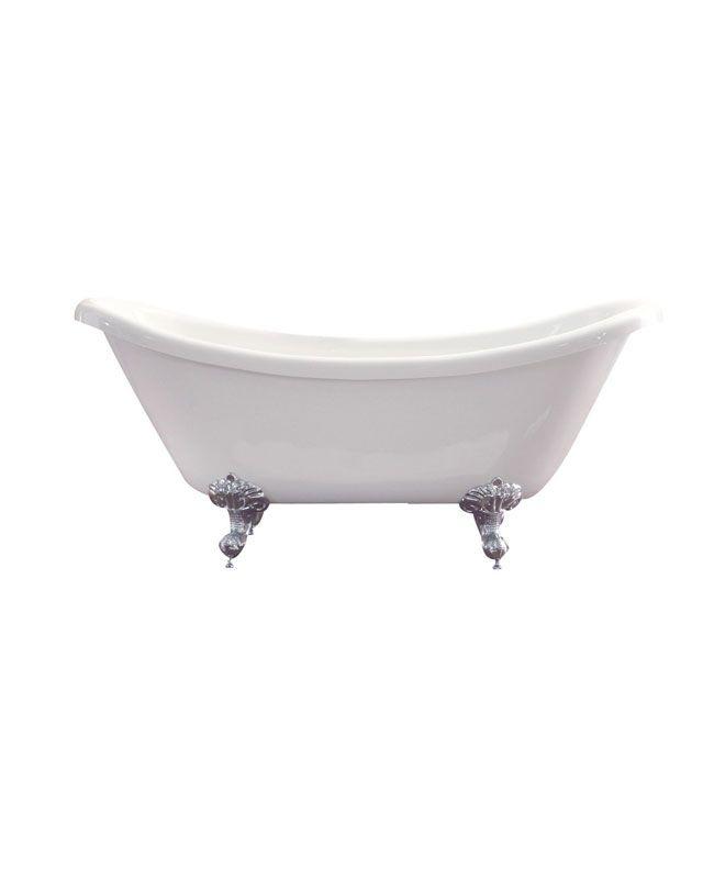 Azzuri Nova Acrylic Clawfoot Bathtub