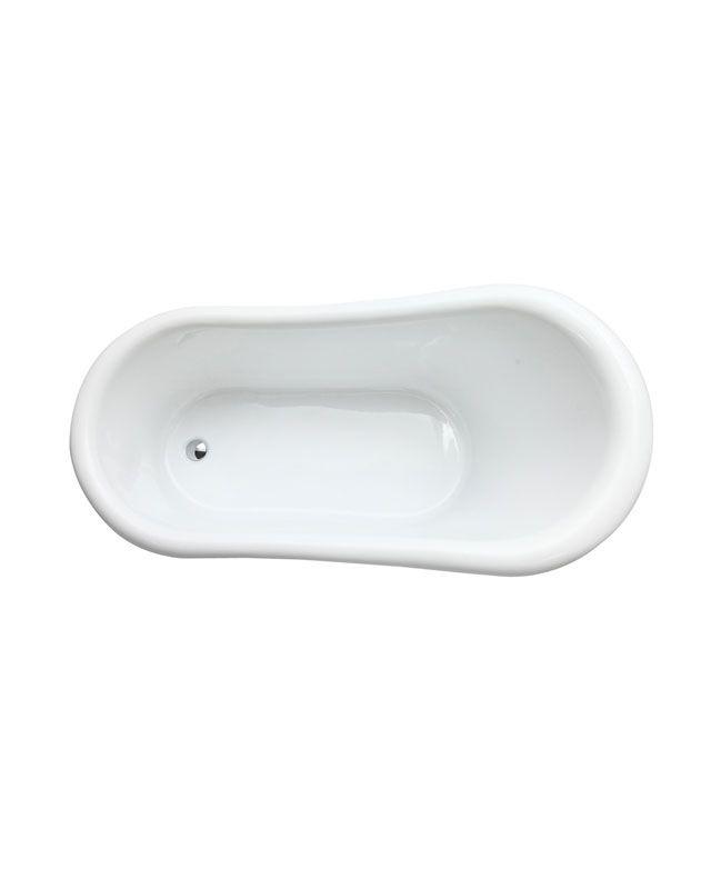 Azzuri Elise Acrylic Clawfoot Bathtub